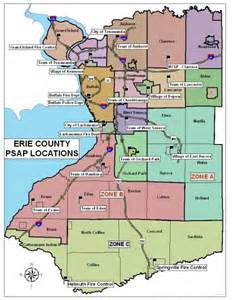 erie county psap map emergency services communications