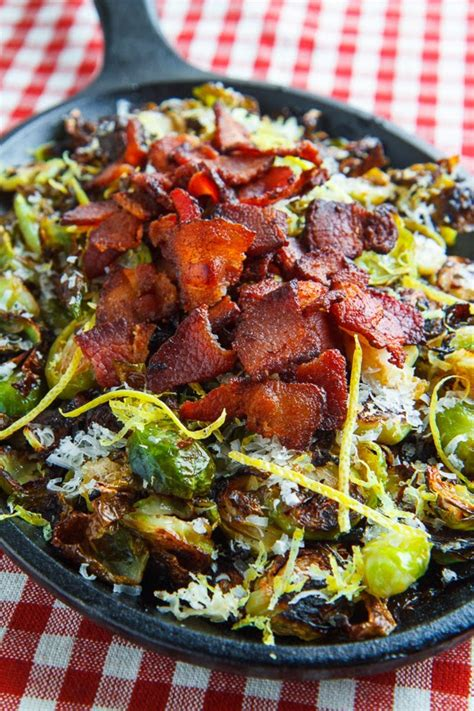 parmesan roasted parmesan roasted brussels sprouts with double smoked bacon