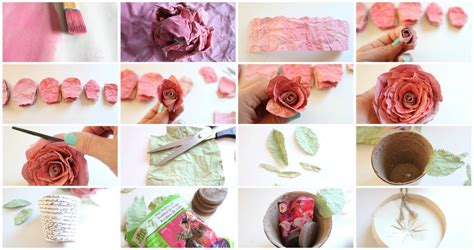 Paper Roses Tutorial - blooms faux mulberry watercolor paper tutorial