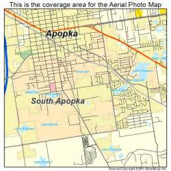 aerial photography map of south apopka fl florida