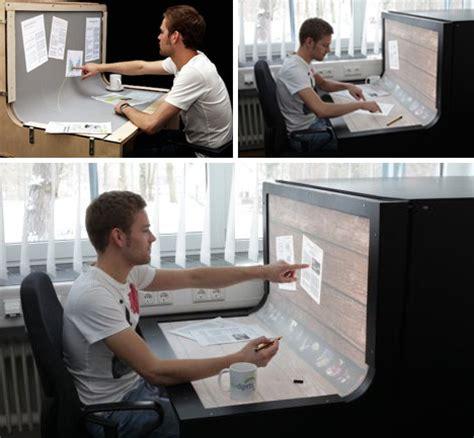 Touch Screen Computer Desk by Futuristic Desktop 3d Multi Touch Computer Desk Design