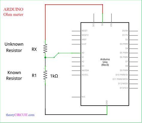 arduino resistor meter arduino ohm meter