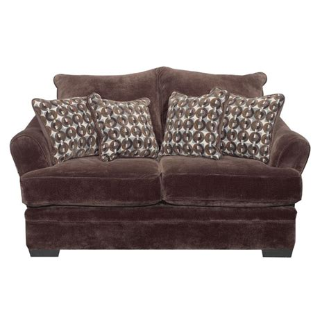 chocolate brown loveseat acropolis 75 quot chocolate brown upholstered loveseat