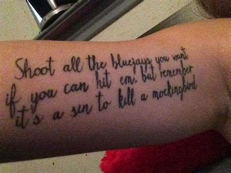 to kill a mockingbird tattoo to kill a mockingbird tattoos