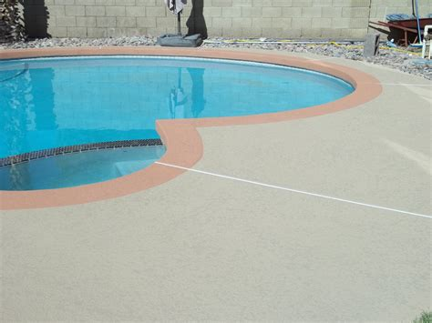 can acrylic lace texture be applied existing kool deck lace pool deck