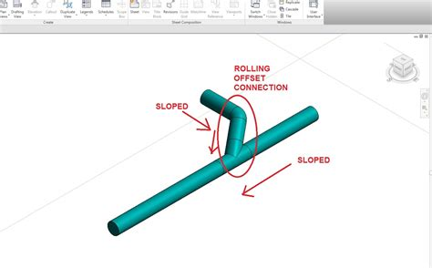 Rolling Offset Plumbing by Rotate Pipe And Fitting Based On Center Line Of Pipe