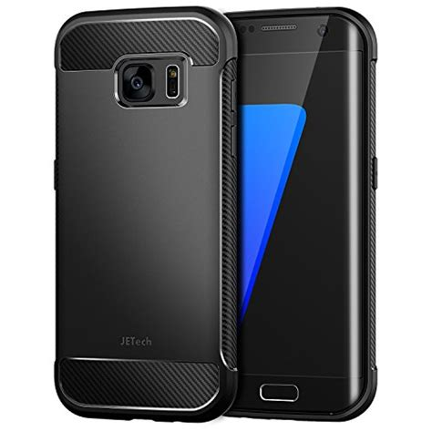 Samsung Galaxy S7 Edge Jetech jetech for samsung galaxy s7 edge protective cover with shock absorption and carbon fiber
