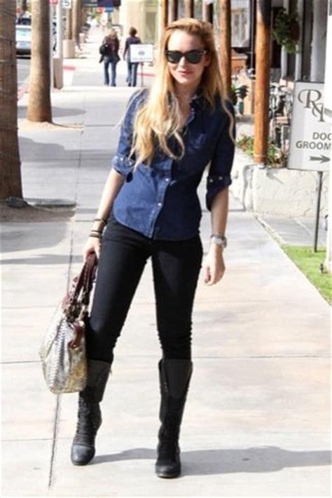 Get Lindsays Casual Look by Lindsay Lohan Ha Vuelto Sus 250 Ltimos Looks De Calle