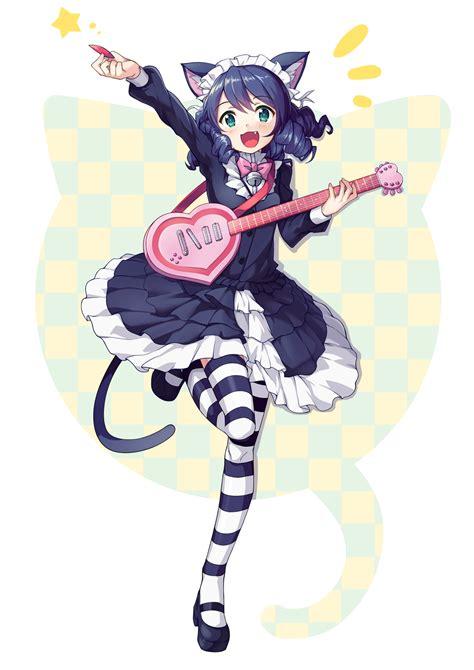 imagenes de anime rock cyan show by rock kemonomimi