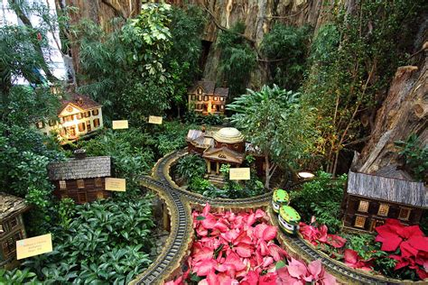 Christmas Display Us Botanic Garden 011345 Photograph Botanical Garden In Dc