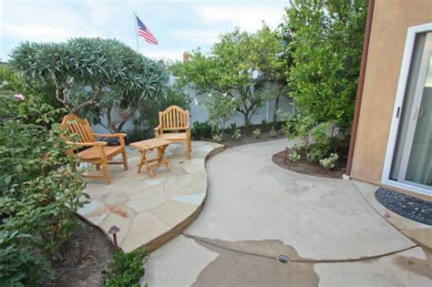 concrete patio ideas for small backyards small yard landscaping carlsbad ca photo gallery