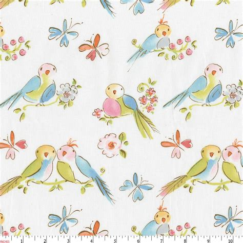 quail pattern fabric love birds fabric by the yard pink fabric carousel designs
