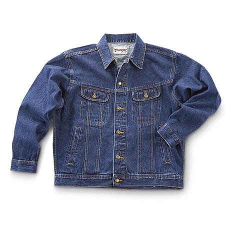 Denim Jn wrangler s denim jean jacket 47385 uninsulated jackets coats at sportsman s guide