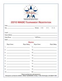 3 On 3 Basketball Tournament Registration Form Template by Magic Tournament July 2010