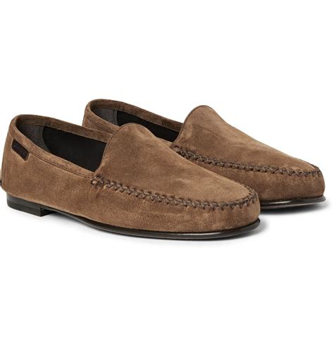 tom ford mens loafers tom ford howard suede loafers in brown for lyst