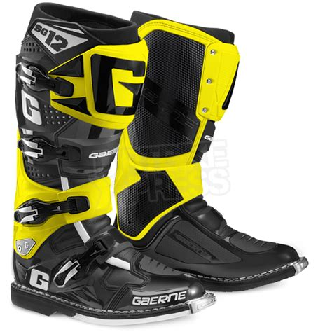 motocross boots gaerne 2015 gaerne sg12 boots limited edition black yellow