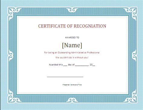 9 recognition certificate sle sle of invoice