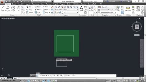 autocad tutorial how to scale beginners autodesk autocad 2014 tutorial scaling objects