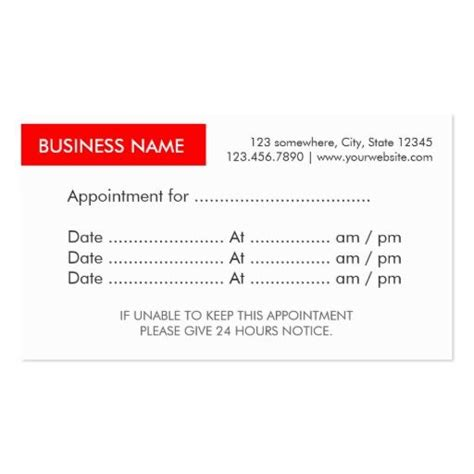 Appointment Reminder Business Card Template by 366 Best Images About Appointment Reminder Business Cards