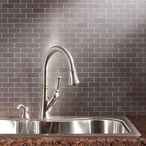 metallic backsplash tiles peel stick peel and stick backsplash guide