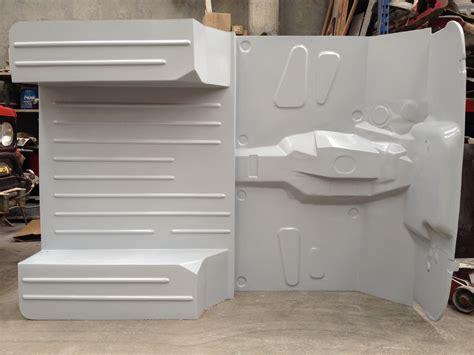 wd fiberglass jeep cj flat floor  shaped floor body tub