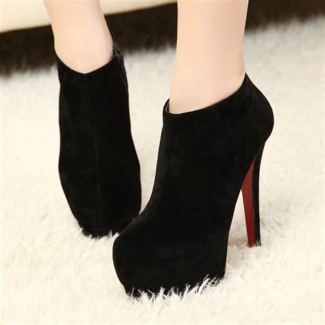 winter high heels boots 2013 new winter black blue fashion s ankle