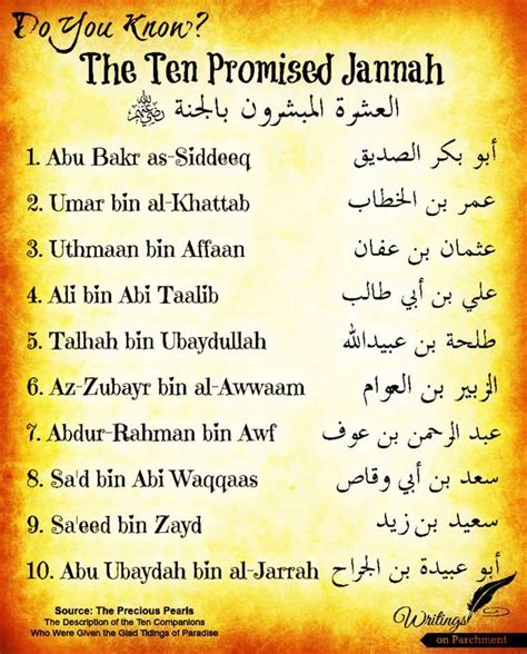 biography of prophet muhammad companions the 10 sahaba companions of the prophet who promised