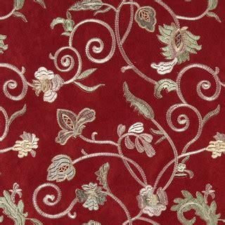 burgundy ivory green embroidered floral vine suede