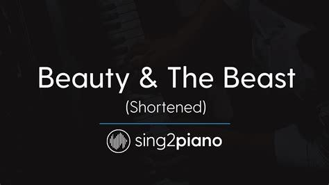 beauty and the beast karaoke mp3 download beauty the beast short piano karaoke ariana grande
