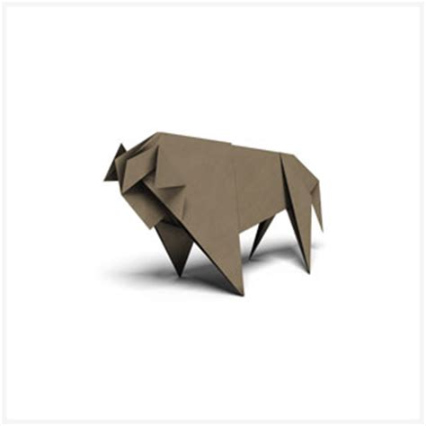 origami bison origami patterns pages wwf