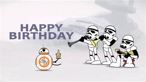 printable birthday cards star wars awesome star wars birthday card youtube
