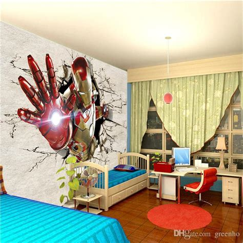iron man bedroom 3d view iron man wallpaper giant wall murals cool photo