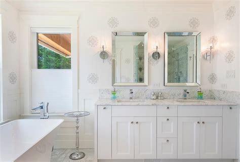 bathroom stencils free master bathroom with gray wall stencils transitional