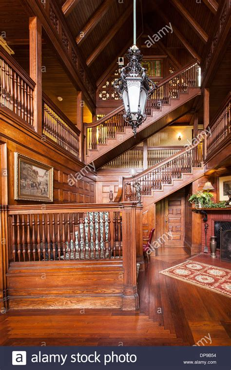 bed and breakfast new england the wood panel interior of historic bed and breakfast in