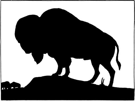 white silhouette vintage buffalo silhouette image the graphics