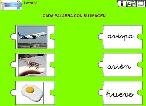 imagenes y palabras con v lectoescritura de la letra v chiscos net didactalia