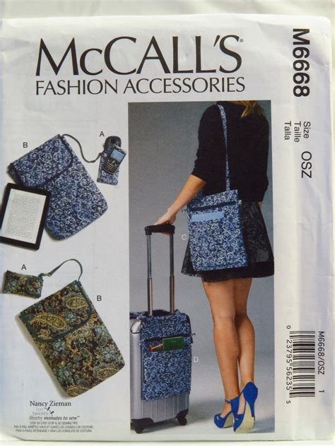 mccalls pattern notebook mccall s 6668 cell phone computer sleeves and travel bags