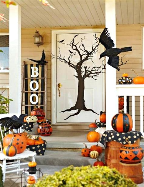 Striking Fall Front Door Decorations Fall Front Porch
