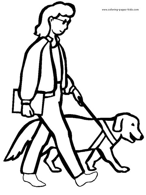 coloring pages of guide dogs with disabilities color page coloring pages for