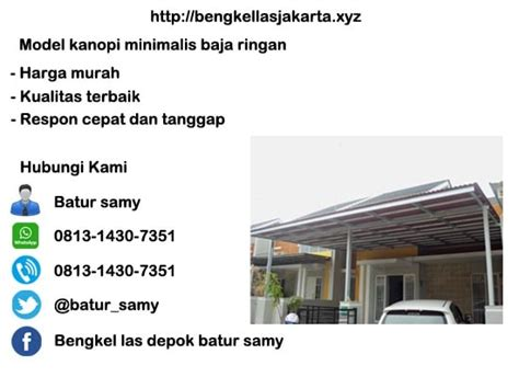 Model Kanopi Minimalis Baja Ringan Di Jakarta Timur