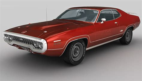 plymouth car models plymouth gtx 3d model free 3d models
