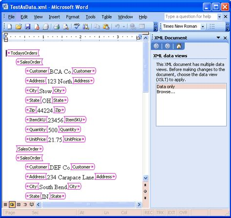 microsoft word xml format document file using xml in excel excel tips mrexcel publishing