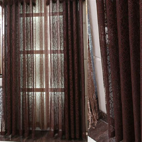 Patterned Window Curtains Patterned Window Curtains Adorn Your Interior With White
