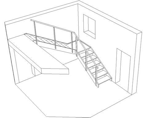 comment dessiner un escalier quart tournant