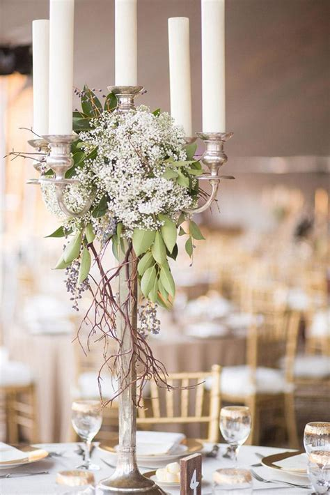 candelabra centerpieces with flowers candelabra wedding centerpieces with flowers