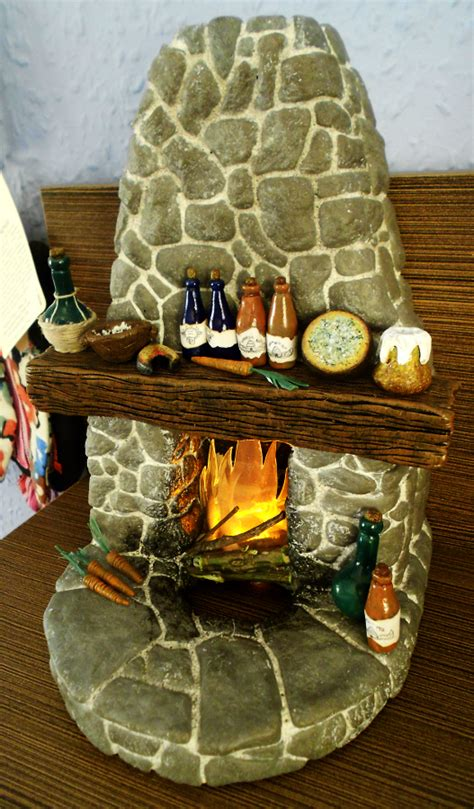 Pottery Fireplace by Skyrim Glowing Fireplace Polymer Clay By Mufla On Deviantart