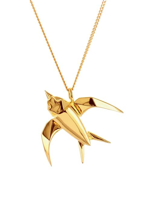 jewelry origami origami jewelry necklace silver from by