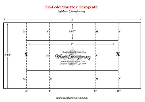 tri shutter card template sting inspiration fancy folds 1 tri fold