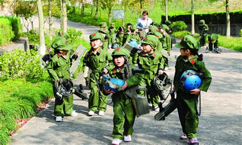 theme park uniforms young soldiers global times