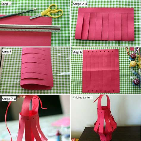 How To Make Easy Paper Lanterns - how to make paper lanterns for new year lantern
